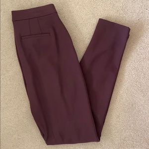 Gap skinny high rise tall burgundy pant